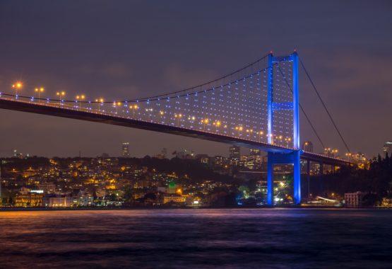 مضيق البوسفور في اسطنبول تركيا